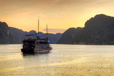 Vietnamese Junks On Halong Bay Vietnam Print by Fototrav Print