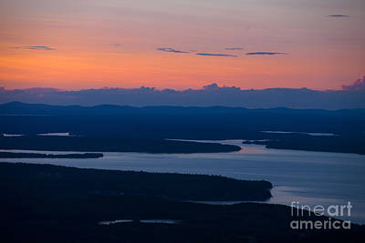 View From Cadillac Mountain Print by Diane Diederich
