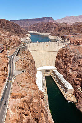 View Of Hoover Dam, Black Canyon Print by Panoramic Images