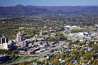 View Of Roanoke Va Print by Jennifer Lamanca Kaufman
