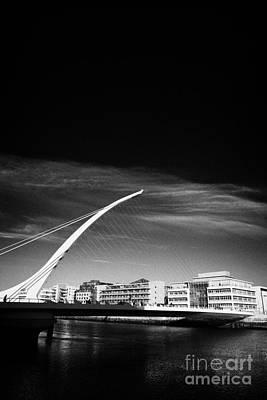 View Of The Samuel Beckett Bridge Over The River Liffey Dublin Republic Of Ireland Print by Joe Fox