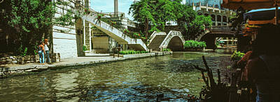 View Of The San Antonio River Walk, San Print by Panoramic Images