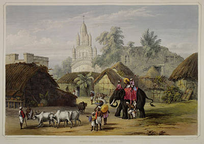 Views Of Calcutta And Its Environs Print by British Library