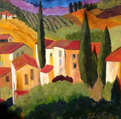 Villas Of Tuscany  Print by Therese Fowler-Bailey