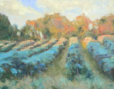 Vineyard Evening Print by Michael Camp