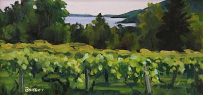 Vineyard Morning Original by Barbara Jones