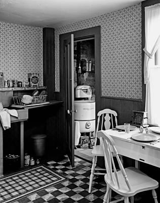 Vintage 1950s Kitchen Print by Mountain Dreams