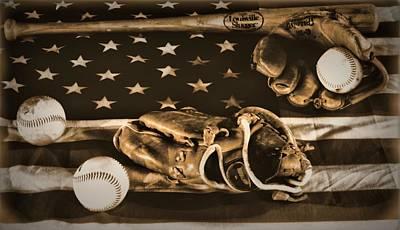 Vintage Baseball Print by Dan Sproul