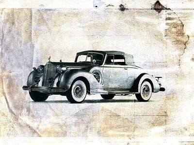 Vintage Cars Digital Art - Vintage Car by David Ridley