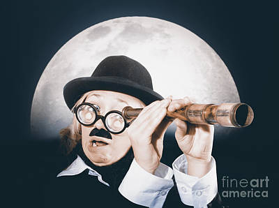 Adventuresome Photograph - Vintage Explorer Looking To Shore With Telescope by Jorgo Photography - Wall Art Gallery