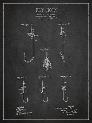 Vintage Fly Hook Patent Drawing From 1923 Print by Aged Pixel