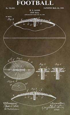 Sports Mixed Media - Vintage Football Patent by Dan Sproul