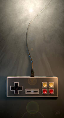 Vintage Video Game Digital Art - Vintage Gaming Controller by Allan Swart