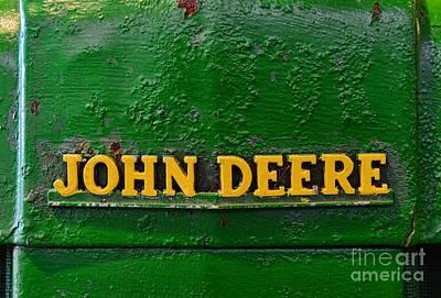 Vintage John Deere Tractor Print by Paul Ward