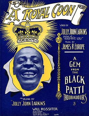 Vintage Sheet Music Cover Print by Studio Artist
