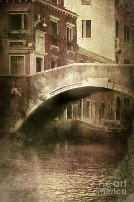 Vintage Shot Of Venetian Canal, Venice Print by Evgeny Kuklev