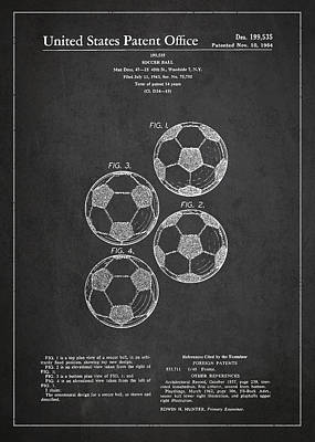 Ball Digital Art - Vintage Soccer Ball Patent Drawing From 1964 by Aged Pixel