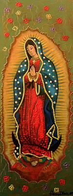 Virgen De Guadalupe Painting - Virgen De Guadalupe - Guadalupe Virgin - Lady Of Guadalupe by Fanny Diaz