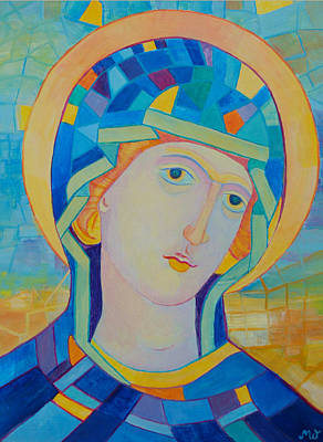 Our Lady Of Lourdes, Blessed Virgin Mary. Our Lady Of The Immaculate Conception Print by Magdalena Walulik