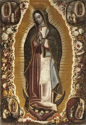 Virgen De Guadalupe Painting - Virgin Of Guadalupe by Celestial Images
