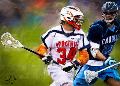 Scott Melby Painting - College Lacrosse 6 by Scott Melby