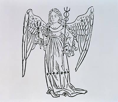 Signs Of The Zodiac Drawing - Virgo  by Italian School