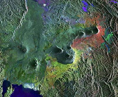 Virunga Mountains Print by European Space Agency