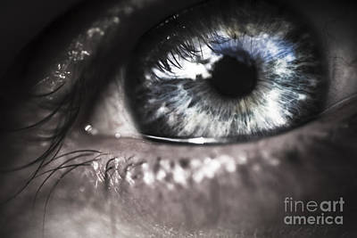 Human Eye Photograph - Visionary Blue Eye Watching Electric Skies by Jorgo Photography - Wall Art Gallery