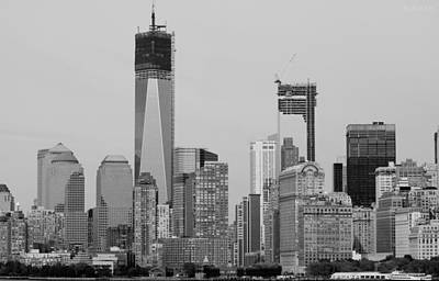 Ground Zero Digital Art - 1 W T  C  And Lower Manhatten In Black And White by Rob Hans