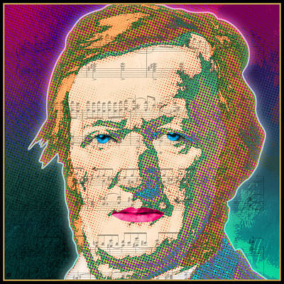 Graphic Digital Art Painting - Wagner by Gary Grayson