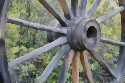 Wagon Wheel Print by Ernie Echols