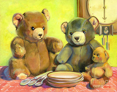 Porridge Painting - Waiting For Goldilocks by Joose Hadley