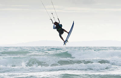 Wakeboarding Photograph - Wakeboarding Dos Mares Beach Tarifa by Ben Welsh
