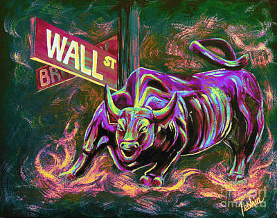 Finance Painting - Wall Street by Teshia Art