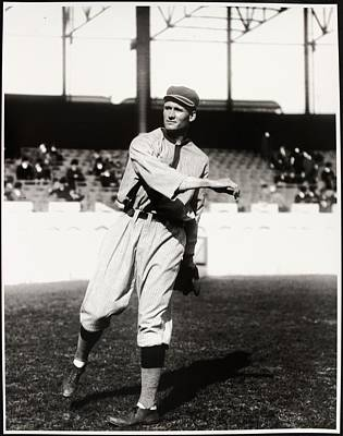 Baseball Photograph - Walter Johnson Poster by Gianfranco Weiss