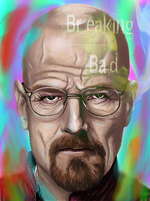 Walter White Print by Jamie Bishop