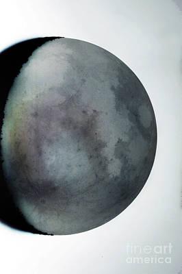 Waning Crescent Moon With Earthshine Print by John Chumack