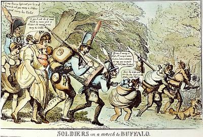 War Of 1812 Painting - War Of 1812 Cartoon, 1813 by Granger