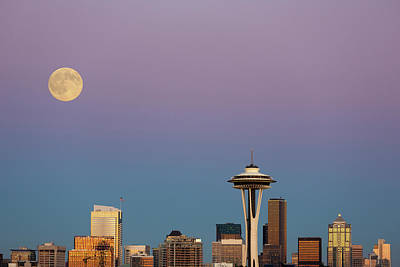 Seattle Skyline Photograph - Washington State, Seattle, Skyline View by Jamie and Judy Wild