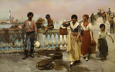 Carrier Painting - Water Carriers - Venice by Mountain Dreams