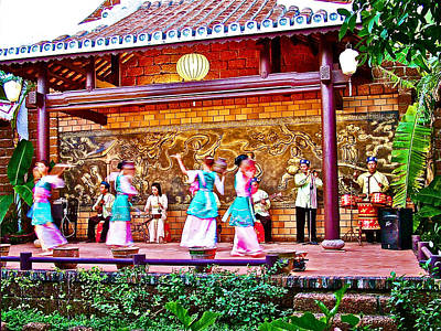 Water Jar Dance In Traditional Theatre Show Near Hoi An-vietnam Print by Ruth Hager