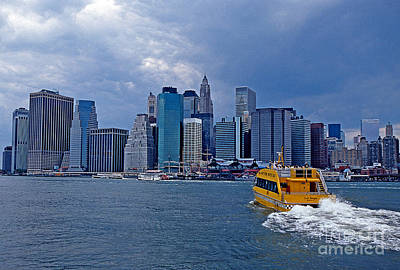 Water Taxi Print by Bruce Bain