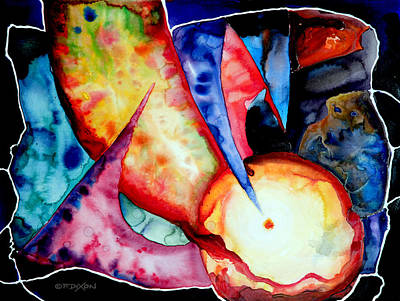 Wet Into Wet Watercolor Painting - Watercolor Fantasy by Frank Robert Dixon