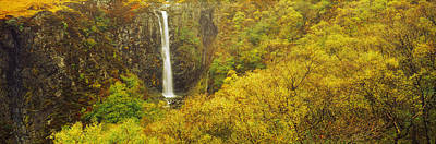 Glen Brittle Photograph - Waterfall In Autumn, Eas Mor, Allt by Panoramic Images