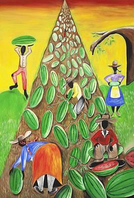 African American. Folk Art Painting - Waterfall  by Patricia Sabree