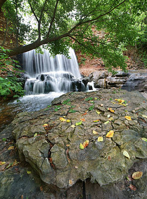 Wetlands Photograph - Waterfall Tanyard Creek Arkansas by Tim Fitzharris