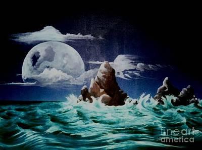 Surrealistic Painting - Waterworld  by David Neace