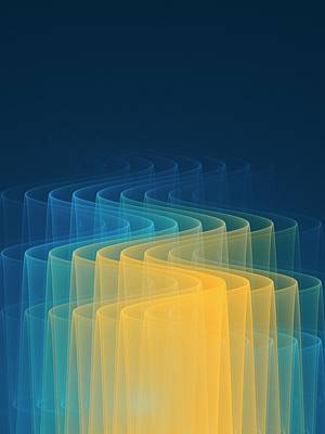 Wave Function Conceptual Artwork Print by David Parker