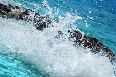 Beach Photograph - Wave Splash by Modern Art Prints