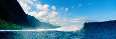 Waves In The Sea, Molokai, Hawaii Print by Panoramic Images